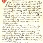 My Uncle's letter to his wife before his first mission in his own hand