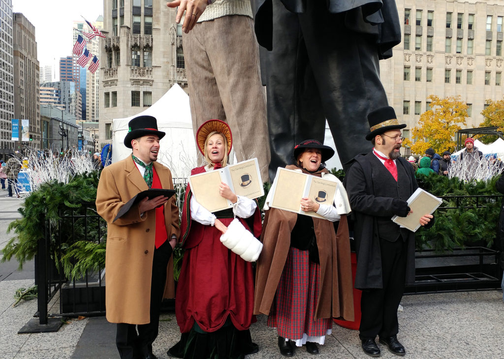 "The Caroling Connection on Festival Lane at the 25th BMO Harris Magnificent Mile Festival of Lights 2017 Photo Credit: <a href=""https://chicago.thelocaltourist.com/events/holidays/christmas"">Theresa Goodrich</A>"