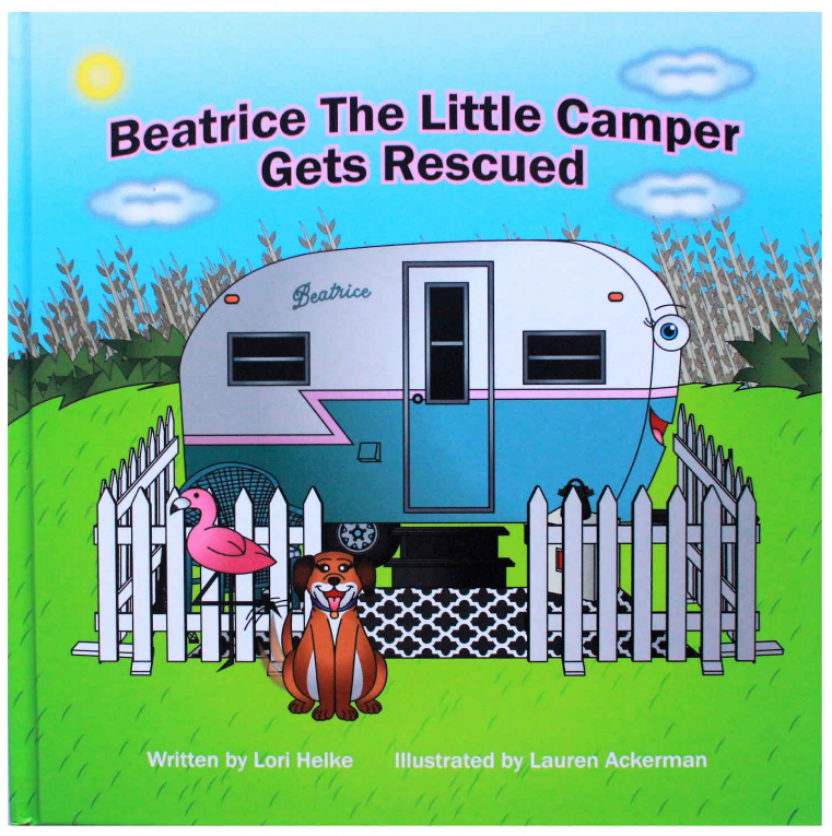 The Cover of Beatrice The Little Camper Gets Rescued,  a link to the story on Stories - With A Voice Like This